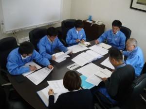 新長崎製作所のミーティング風景