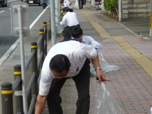 大村市市道里親清掃